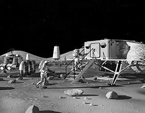 Программы освоения Луны человеком пока наглядно реализуются только художниками из НАСА
