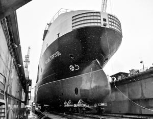 «Восточная верфь» спустила на воду уникальный танкер