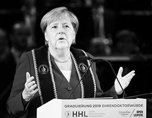 Накануне выборов Ангела Меркель приехала в Саксонию и выступила в Лейпциге
