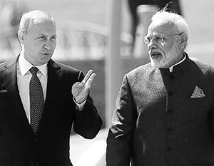 Владимир Путин и Нарендра Моди во Владивостоке