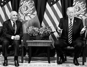 Дональд Трамп с президентом Афганистана Ашрафом Гани
