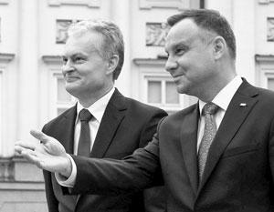 Руководители Польши и Литвы считают взаимный мир приемлемым для своих стран – но не для отношений с Россией