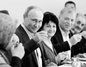 Владимир Путнн на встрече с бывшими ополченцами в Ботлихе