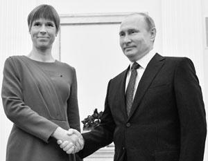 Визит Кальюлайд в Россию и ее встреча с Путиным вызвали в Прибалтике громкий скандал