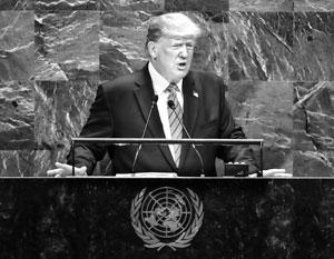 На трибуне ООН Трамп казался подавленным, но начало процедуры импичмента его подбодрит