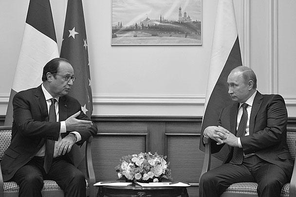 В отношениях России и Франции появилось недопонимание после того, как Олланд 25 ноября объявил о решении приостановить поставку первого вертолетоносца типа «Мистраль» для России из-за ситуации на Украине. Однако на этой встрече тема «Мистралей» даже не поднималась