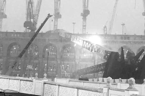 Десятки человек погибли и более сотни ранены из-за трагедии, произошедшей в Мекке (Саудовская Аравия): строительный кран упал на мечеть. Причиной, судя по всему, стали сильные дожди и ветер