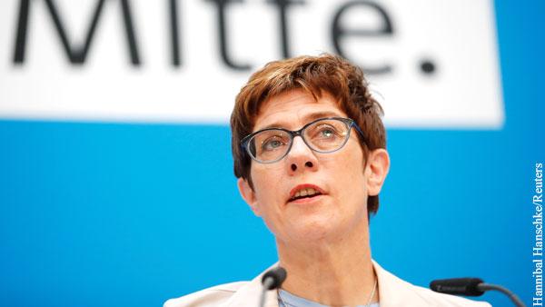 Преемница Меркель высказалась о воссоединении Крыма с Россией