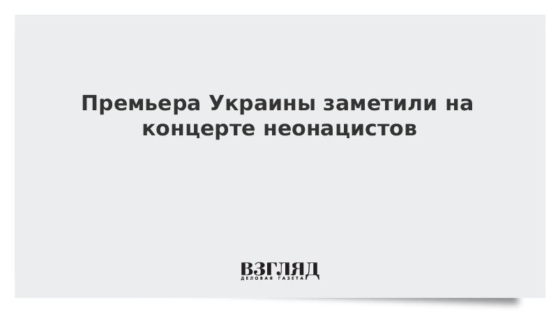 Премьера Украины заметили на концерте неонацистов
