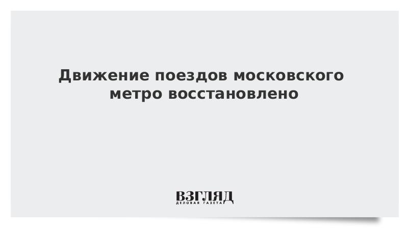 Движение поездов московского метро восстановлено