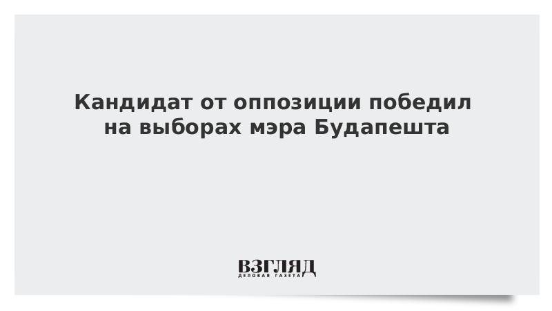 Кандидат от оппозиции победил на выборах мэра Будапешта