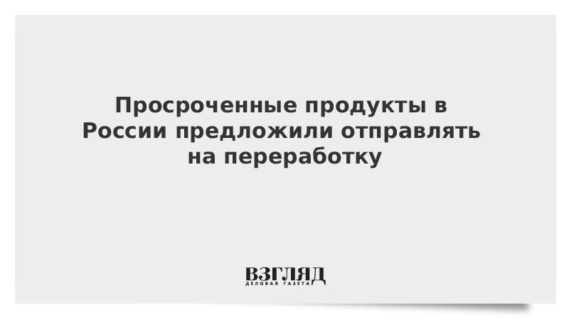 Просроченные продукты в России предложили отправлять на переработку