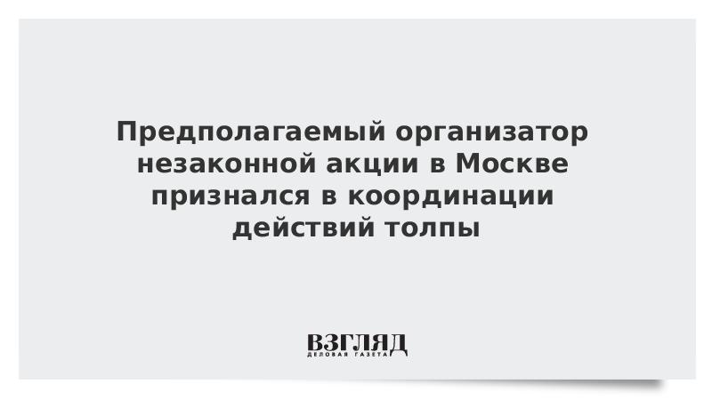 Предполагаемый организатор незаконной акции в Москве признался в координации действий толпы