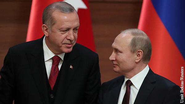 Названа тема переговоров Путина и Эрдогана