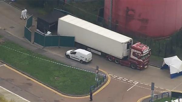 В Британии обнаружен грузовик с 39 телами