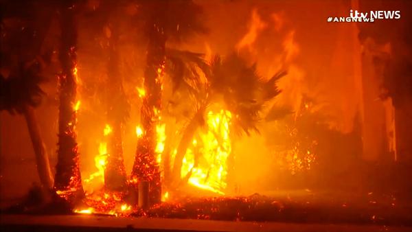 В Калифорнии из-за пожаров объявлен режим чрезвычайной ситуации.