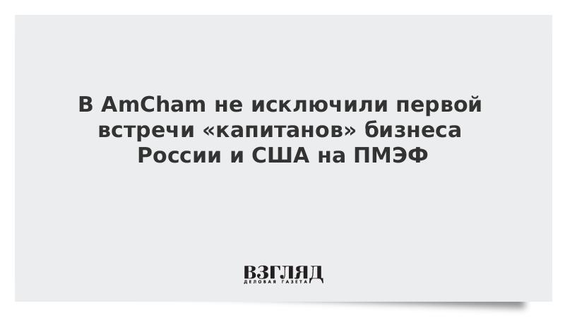 В AmCham не исключили первой встречи «капитанов» бизнеса России и США на ПМЭФ