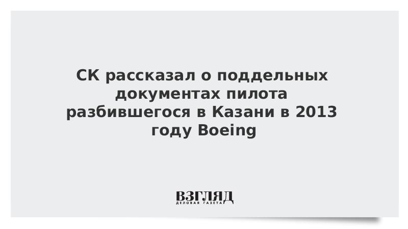 СК рассказал о поддельных документах пилота разбившегося в Казани в 2013 году Boeing