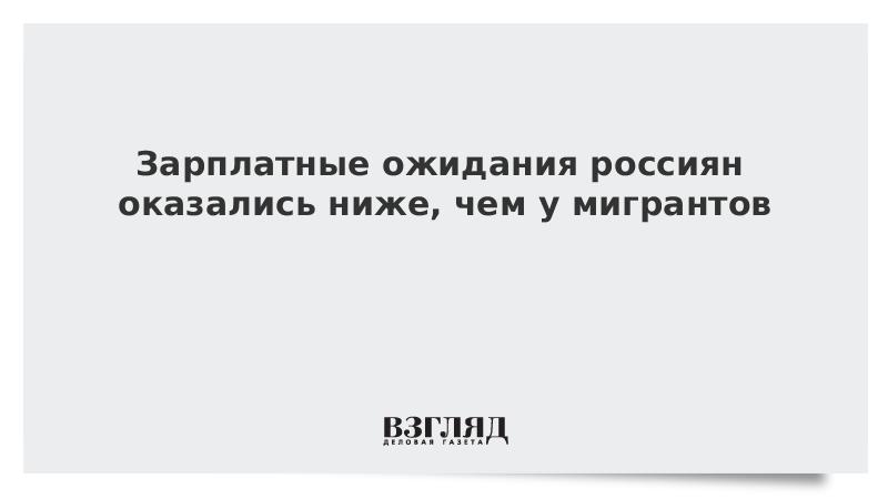 Зарплатные ожидания россиян оказались ниже, чем у мигрантов