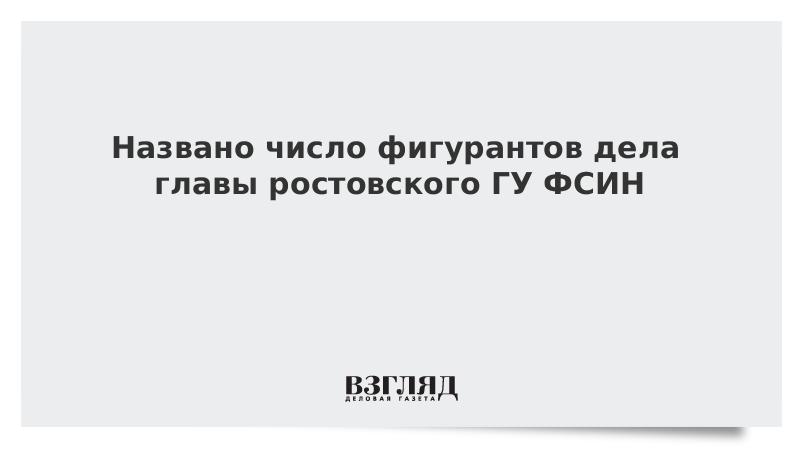 Названо число фигурантов дела главы ростовского ГУ ФСИН