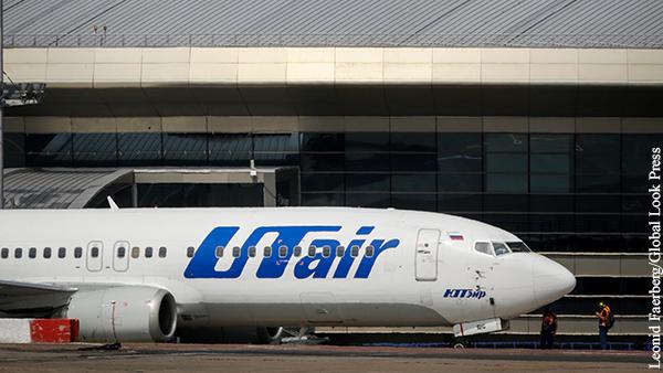 Самолет Utair повредил шасси после посадки во Внуково
