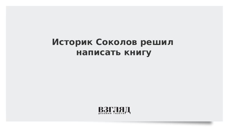 Историк Соколов решил написать книгу