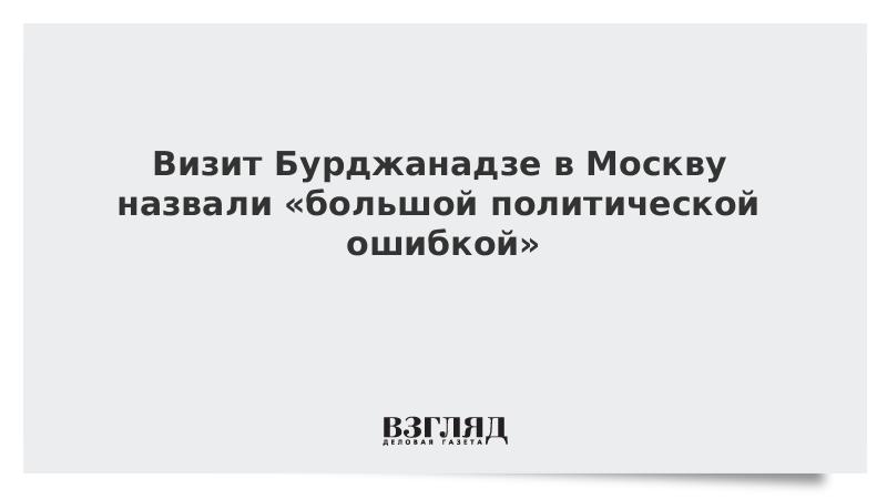 Визит Бурджанадзе в Москву назвали «большой политической ошибкой»