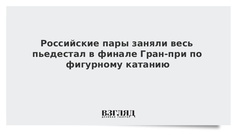 Российские пары заняли весь пьедестал в финале Гран-при по фигурному катанию