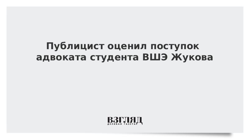Публицист оценил слова  адвоката студента ВШЭ Жукова