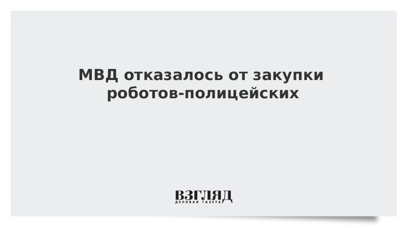 МВД отказалось от закупки роботов-полицейских