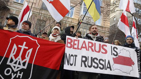 Политика: Антироссийские митинги в Минске выгодны Лукашенко
