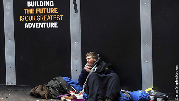 Британию накрыл «кризис бездомных»