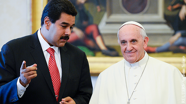 Мадуро предупредил папу Римского об отказе народа Венесуэлы от католицизма