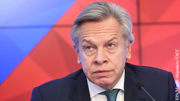 Пушков отреагировал на слова Помпео о смене правительства России