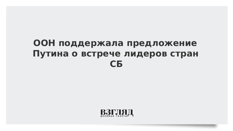 ООН поддержала предложение Путина о встрече лидеров стран СБ