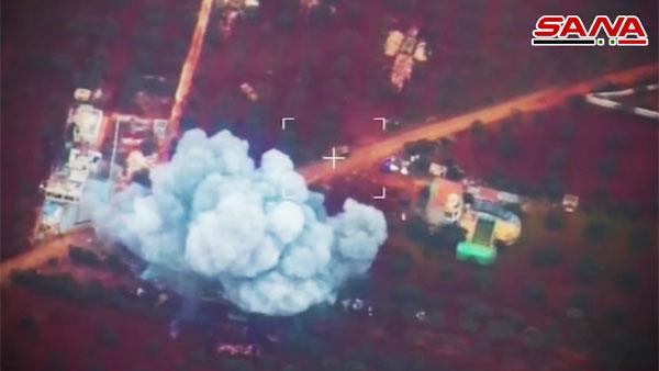 Опубликовано видео отражения нападения боевиков в Сирии