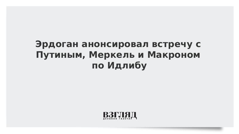 Эрдоган анонсировал встречу с Путиным, Меркель и Макроном по Идлибу