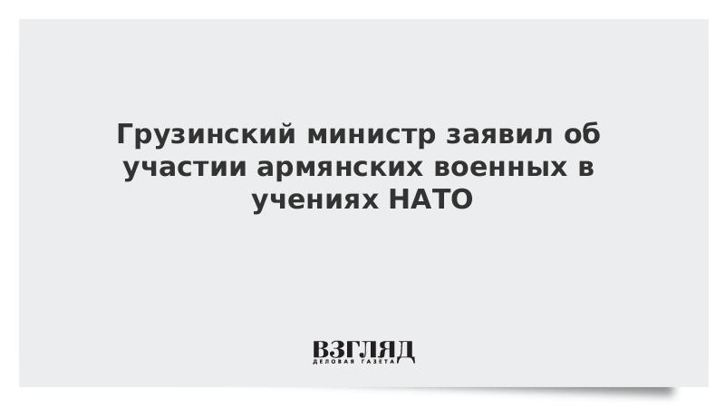 Грузинский министр заявил об участии армянских военных в учениях НАТО