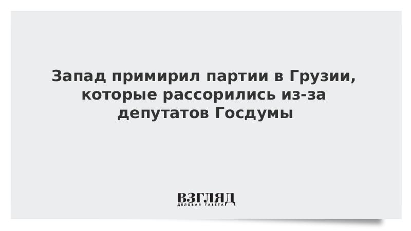 Запад примирил партии в Грузии, которые рассорились из-за депутатов Госдумы