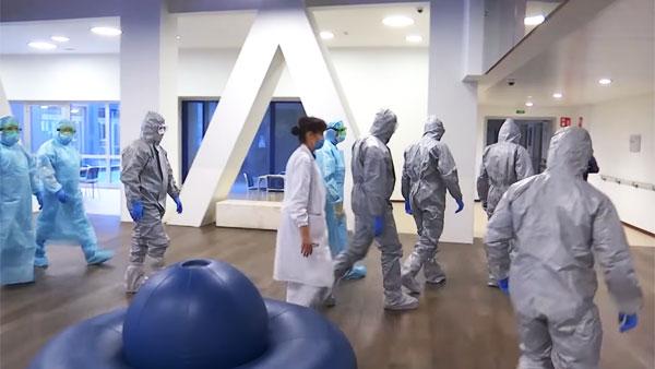 Российские военные продезинфицировали второй пансионат для пожилых в Италии