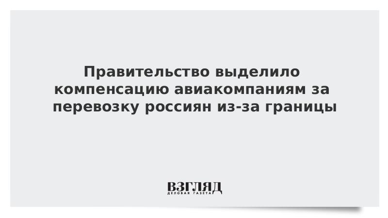 Правительство выделило компенсацию авиакомпаниям за перевозку россиян из-за границы