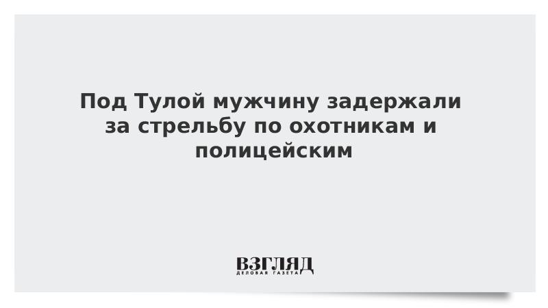 Под Тулой мужчину задержали за стрельбу по охотникам и полицейским