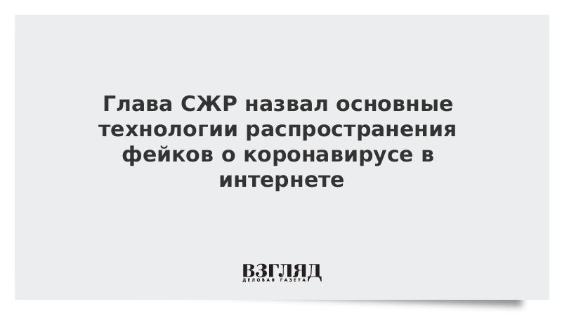 Глава СЖР назвал основные технологии распространения фейков о коронавирусе в интернете