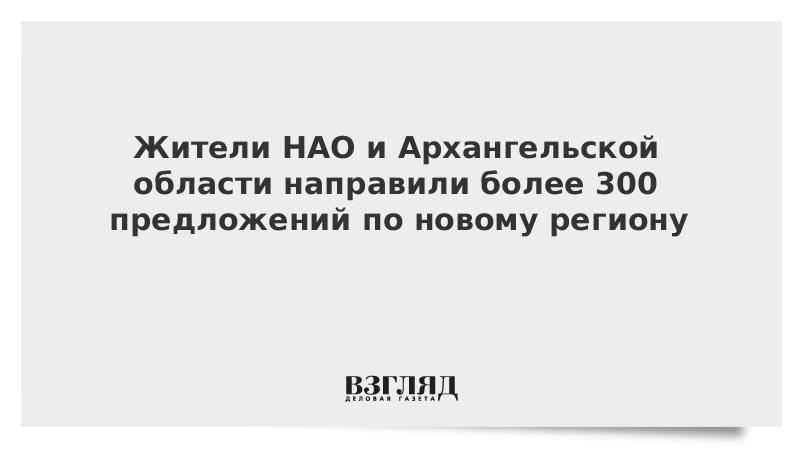Жители НАО и Архангельской области направили более 300 предложений по новому региону