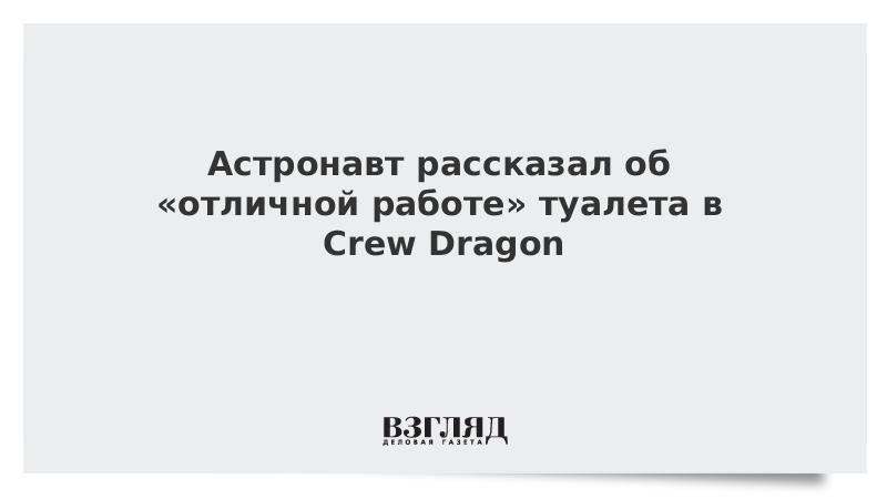 Астронавт рассказал об «отличной работе» туалета в Crew Dragon