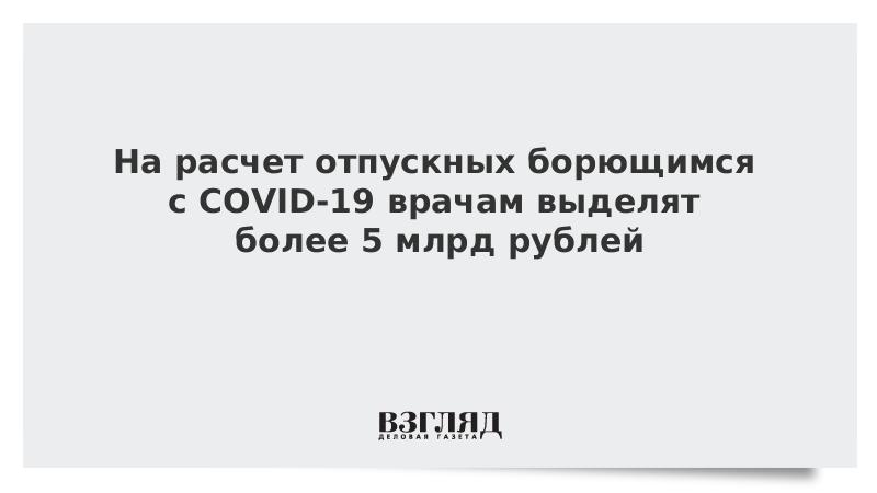 На расчет отпускных борющимся с COVID-19 врачам выделят более 5 млрд рублей