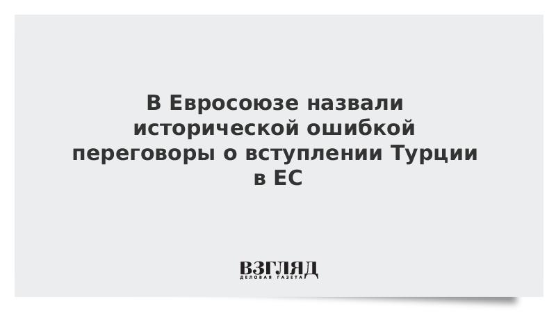 В Евросоюзе назвали исторической ошибкой переговоры о вступлении Турции в ЕС