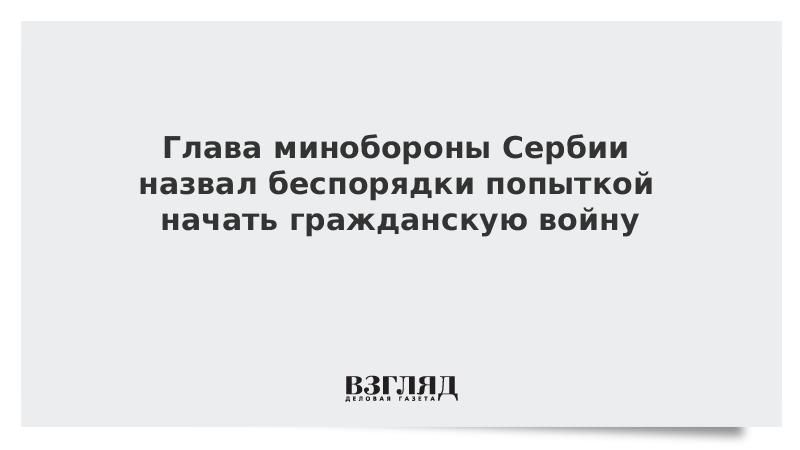 Глава минобороны Сербии назвал беспорядки попыткой начать гражданскую войну
