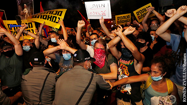 Между протестующими и полицией в Иерусалиме произошли столкновения