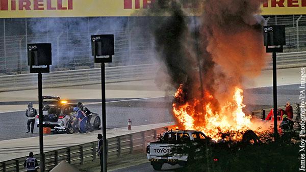 Квят рассказал о столкновениях и пожаре на гонке F1 в Бахрейне